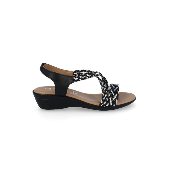 PACK SANDALS WALK FROM ANGEL 323 BLACK AND WHITE