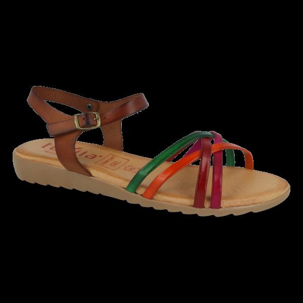 Sandalia piel TEKILA SCARLET