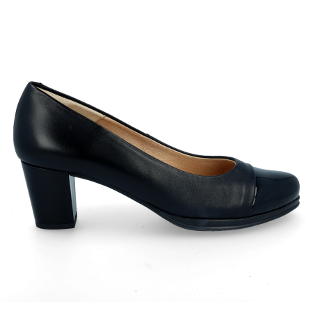 Lounge Leather cap-Toe DESIREE 1247 Black