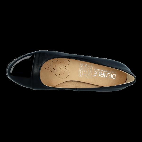 Lounge Leather cap-Toe DESIREE 1247 Black
